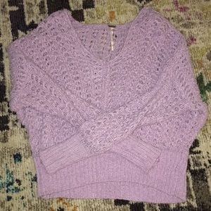 Lavender Purple recycled free people sweater